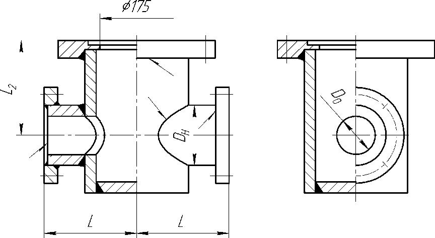 Подставка пожарная фланцевая Ду до 150мм