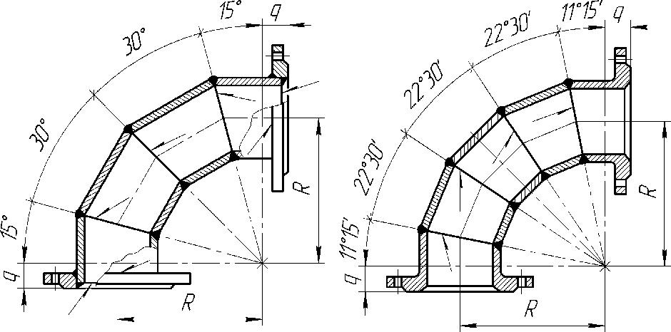 Колено фланцевое - Ду до 300мм, Ду 400-600мм