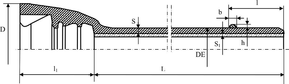 Труба раструбная с соединением RJ