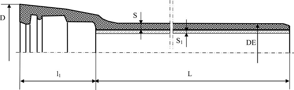 Труба раструбная с соединением TYTON