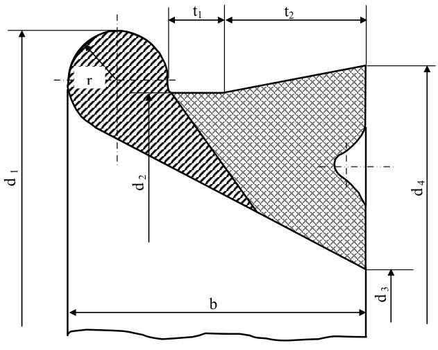 Уплотнительное резиновое кольцо типа ВРС